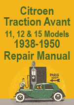 Citroen Traction Avant Light 15 Workshop Repair Manual